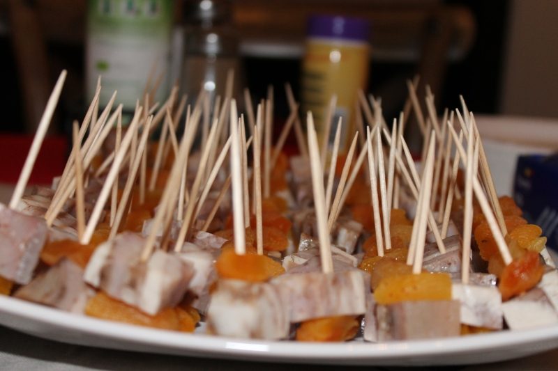 Christmas brawns with apricot